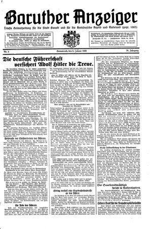 Baruther Anzeiger vom 05.01.1935