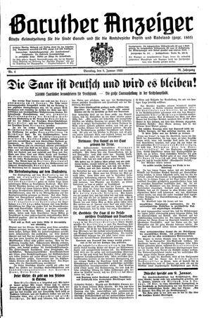 Baruther Anzeiger vom 08.01.1935
