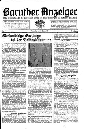 Baruther Anzeiger vom 10.01.1935