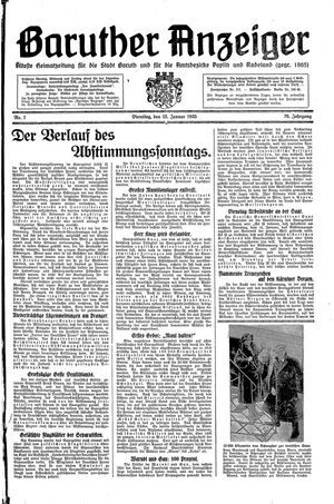 Baruther Anzeiger vom 15.01.1935