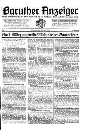 Baruther Anzeiger vom 19.01.1935