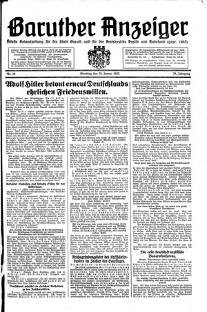 Baruther Anzeiger on Jan 22, 1935