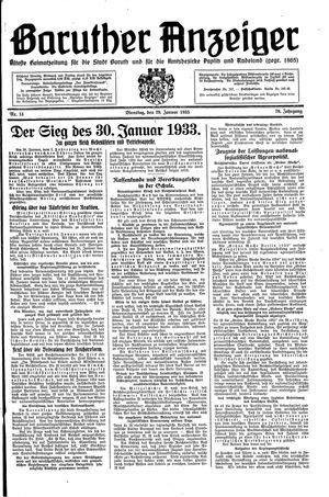 Baruther Anzeiger vom 29.01.1935