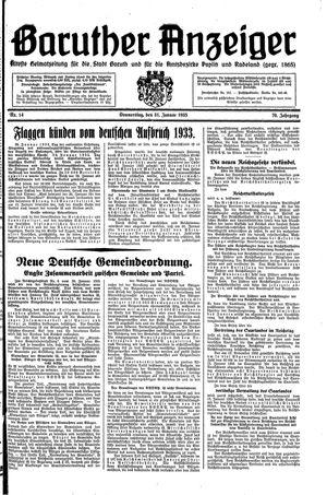 Baruther Anzeiger vom 31.01.1935