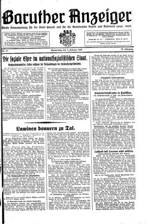 Baruther Anzeiger vom 07.02.1935