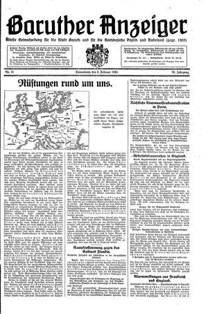 Baruther Anzeiger vom 09.02.1935