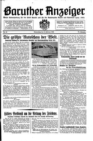 Baruther Anzeiger vom 14.02.1935