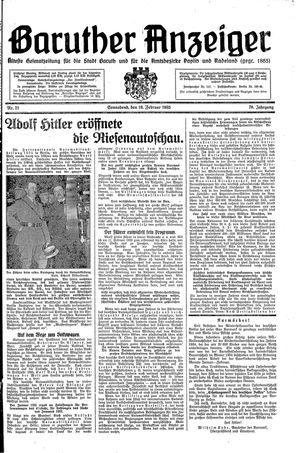 Baruther Anzeiger vom 16.02.1935