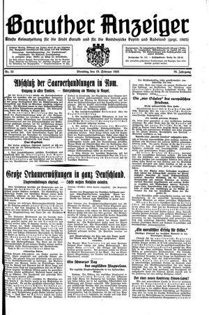 Baruther Anzeiger on Feb 19, 1935