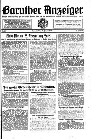 Baruther Anzeiger vom 23.02.1935