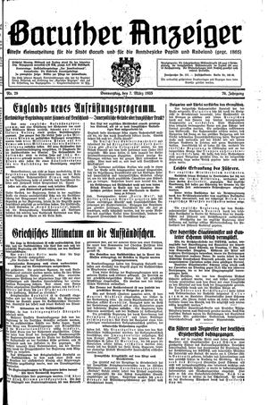 Baruther Anzeiger vom 07.03.1935