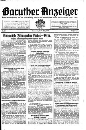 Baruther Anzeiger vom 09.03.1935