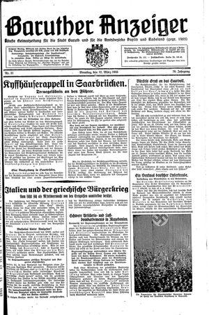 Baruther Anzeiger vom 12.03.1935