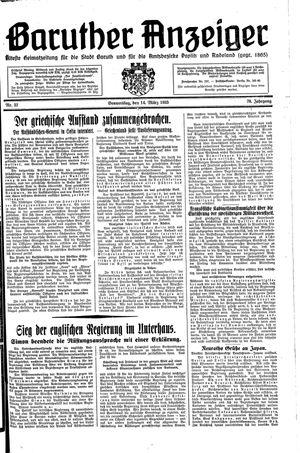 Baruther Anzeiger vom 14.03.1935