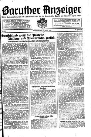 Baruther Anzeiger vom 23.03.1935