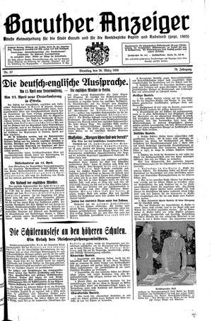 Baruther Anzeiger vom 26.03.1935