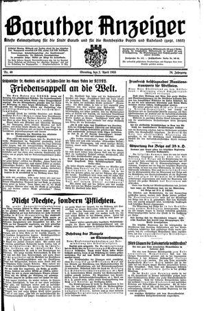 Baruther Anzeiger vom 02.04.1935