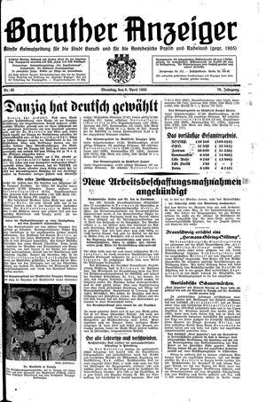 Baruther Anzeiger vom 09.04.1935