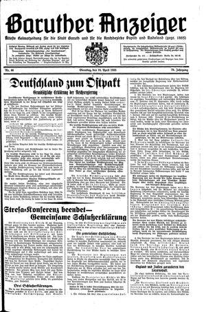 Baruther Anzeiger vom 16.04.1935