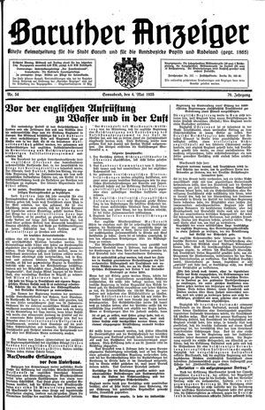 Baruther Anzeiger on May 4, 1935