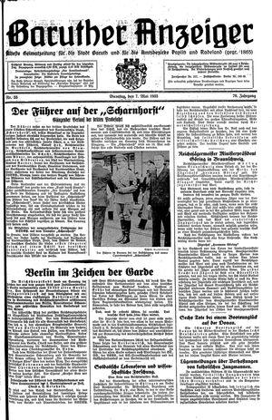 Baruther Anzeiger vom 07.05.1935