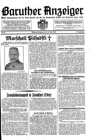 Baruther Anzeiger vom 13.05.1935