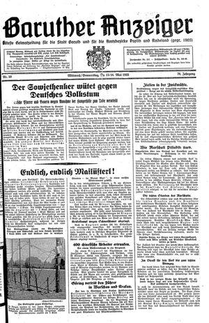 Baruther Anzeiger vom 15.05.1935