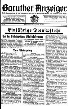 Baruther Anzeiger vom 22.05.1935