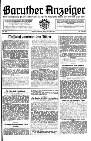 Baruther Anzeiger vom 27.05.1935
