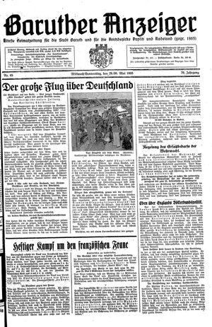 Baruther Anzeiger vom 29.05.1935