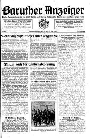 Baruther Anzeiger vom 31.05.1935