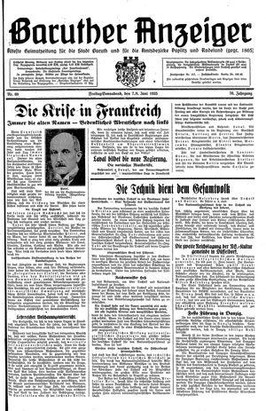 Baruther Anzeiger vom 07.06.1935