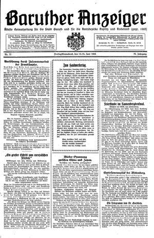 Baruther Anzeiger vom 14.06.1935