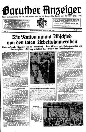 Baruther Anzeiger vom 19.06.1935