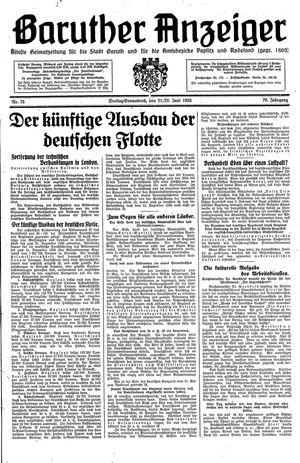 Baruther Anzeiger vom 21.06.1935