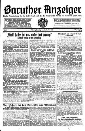 Baruther Anzeiger vom 24.06.1935