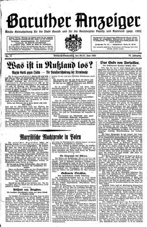 Baruther Anzeiger vom 26.06.1935