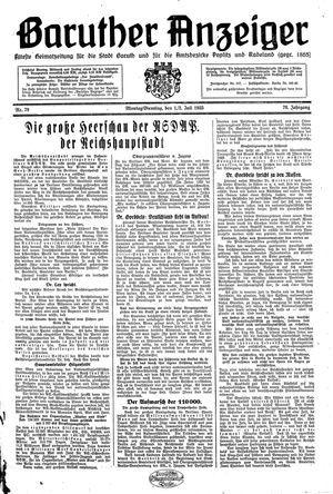 Baruther Anzeiger vom 01.07.1935