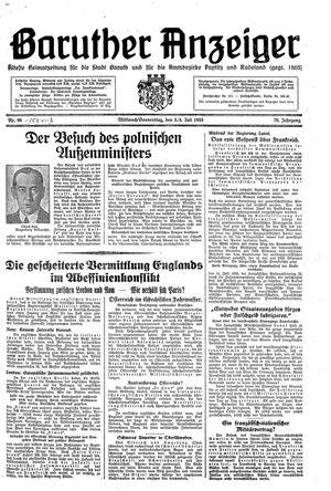 Baruther Anzeiger vom 03.07.1935