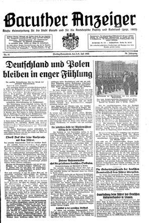 Baruther Anzeiger vom 05.07.1935