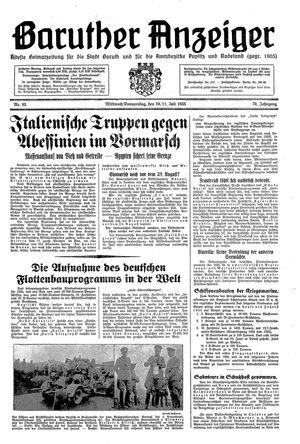 Baruther Anzeiger vom 10.07.1935