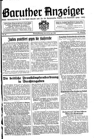 Baruther Anzeiger on Jul 22, 1935