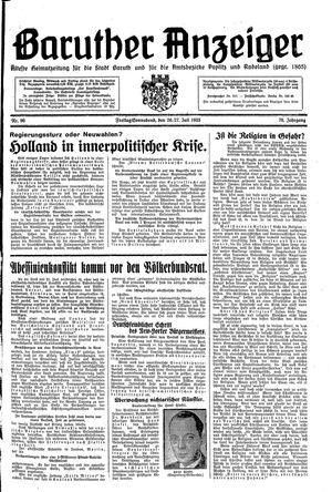 Baruther Anzeiger vom 26.07.1935