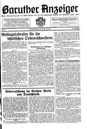 Baruther Anzeiger vom 29.07.1935
