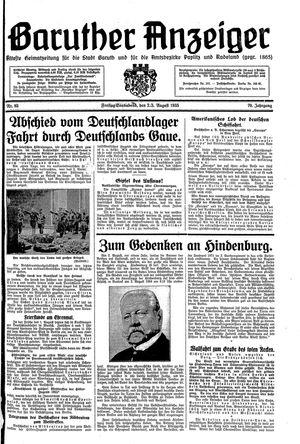 Baruther Anzeiger vom 02.08.1935