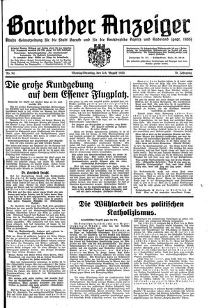 Baruther Anzeiger vom 05.08.1935
