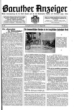 Baruther Anzeiger vom 09.08.1935
