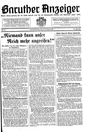 Baruther Anzeiger vom 12.08.1935