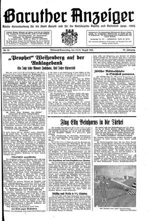 Baruther Anzeiger vom 14.08.1935