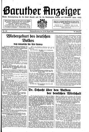 Baruther Anzeiger vom 19.08.1935
